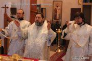 """Божественная литургия в день празднования иконы Богородицы """"Три радости""""."""