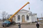 В Свято-Покровском мужском монастыре осуществлено поднятие купола
